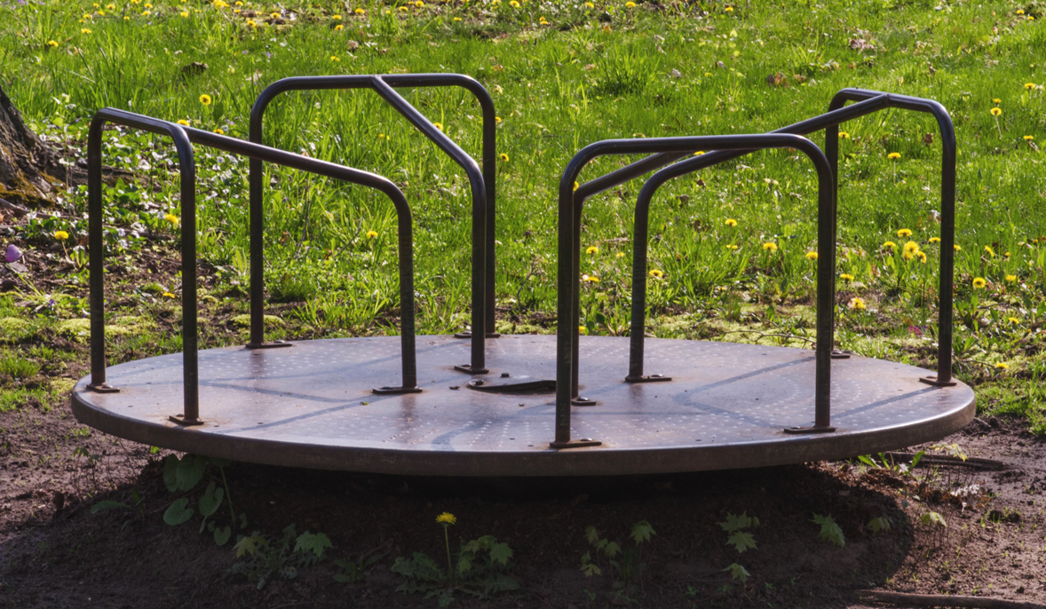 There Used To Be A Merry Go Round In The Park Where I Would Play As Child About Eight Feet Diameter Its Smooth Metal Deck Sat Centered On Very